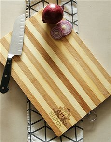 gifts: Crest Chopping Board Personalised!
