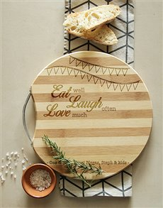 gifts: Personalised Eat, Laugh, Love Chopping Board!