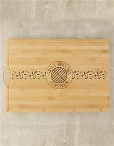 gifts: Personalised Grill Master Butchers Block!
