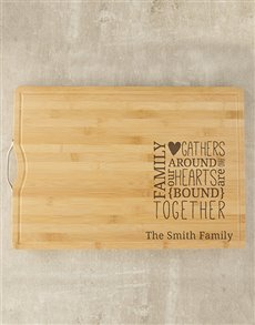 gifts: Personalised Family Butchers Block!