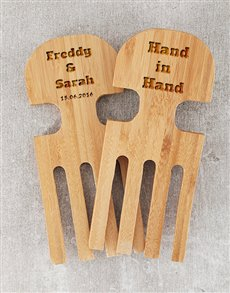 gifts: Personalised Hand in Hand Salad Servers!