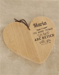 gifts: Personalised Loving Couple Chopping Board!