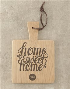 gifts: Personalised Home Sweet Home Square Board!