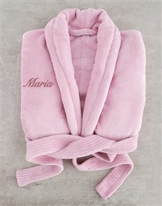 gifts: Personalised Vintage Pink Fleece Gown!