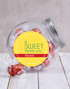 gifts: Personalised Sweet Thank You Candy Jar!