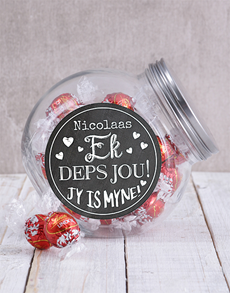 gifts: Personalised Ek Deps Jou Candy Jar!