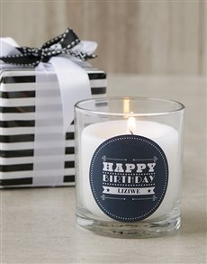 gifts: Personalised Glam Happy Birthday Candle!