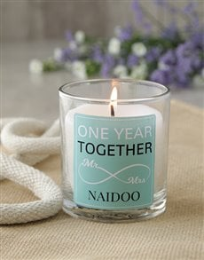 gifts: Personalised Infinity Anniversary Candle!