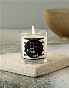 gifts: Personalised I Love You Candle !