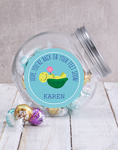 gifts: Personalised Back on Your Feet Candy Jar!