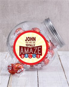 gifts: Personalised Red Amazeballs Candy Jar!