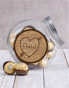 gifts: Personalised Carved Initials Candy Jar!