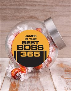 gifts: Personalised Best Boss Candy Jar!