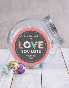 gifts: Personalised Love You Lots Candy Jar!