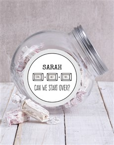 gifts: Personalised Can We Start Over Candy Jar!