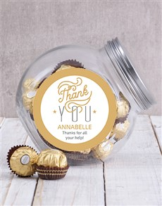 gifts: Personalised Thank You Glam Candy Jar!