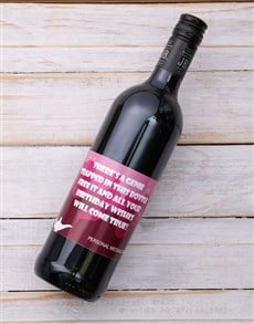 gifts: Personalised Genie in a Bottle Red Wine!