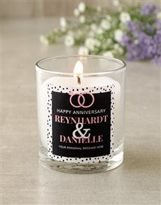 gifts: Personalised Anniversary Candle!