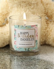 gifts: Personalised Pastel Happy Birthday Candle!