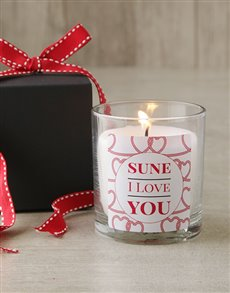 gifts: Personalised Hearty I Love You Candle!