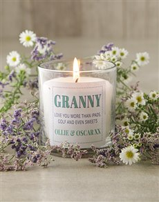 gifts: Personalised Granny Candle!