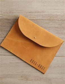 gifts: Personalised Tan Leather Envelope Tablet Cover!
