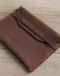 gifts: Personalised Brown Envelope Cover   Front Strap!