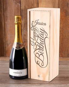 gifts: Personalised Birthday Bubbly Crate!