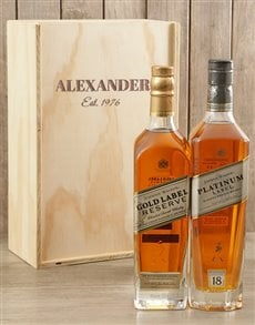gifts: Personalised Double Johnnie Walker Crate!