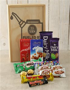 gifts: Personalised Fueled By Chocolate Crate!