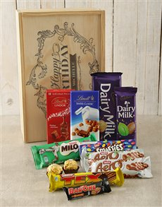 gifts: Personalised Happy Birthday Choc Crate!