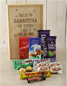 gifts: Personalised All Mine Chocolate Crate!