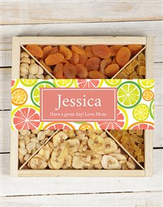 gifts: Personalised Fruit & Nut Tray!