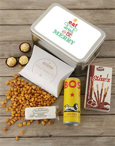 gifts: Personalised Be Merry Snack Tin!