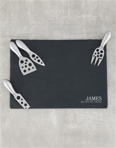 gifts: Personalised Slate Board and Cheese Knife Set!