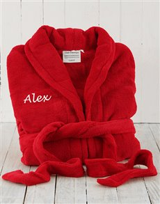 gifts: Personalised Red Fleece Gown!