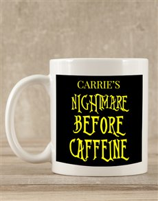 gifts: Personalised Nightmare Before Caffeine Mug Gift!