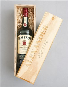 gifts: Personalised Jameson Crate!
