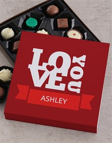 gifts: Personalised Love Chocolate Tray!