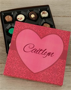 gifts: Personalised Sweet Love Choc Tray!