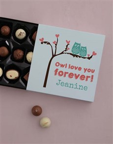 gifts: Personalised  Owl Always Love You Choc Tray!