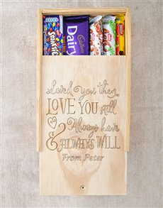 gifts: Personalised Always Love You Chocolate Box!