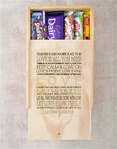 gifts: Personalised All You Need Chocolate Box!
