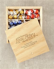 gifts: Personalised True Love Story Lindt Box!