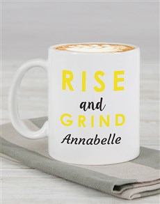 gifts: Personalised Rise and Grind Mug!