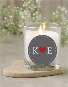 gifts: Personalised Initials Candle!