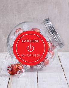 gifts: Personalised You Turn Me On Candy Jar!