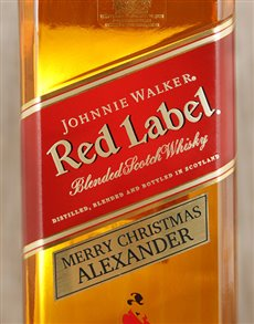 gifts: Personalised Johnnie Walker Red!