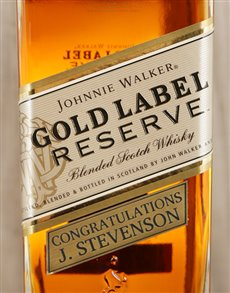 gifts: Personalised Johnnie Walker Gold Reserve!