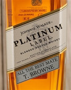 gifts: Personalised Johnnie Walker Platinum!